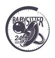 babysitter typography emblem vector image vector image