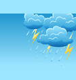 background with thunderstorm of vector image vector image