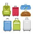 bags different type models travel bag vector image vector image
