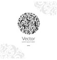 beautiful circle ornament detailed vector image vector image