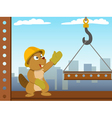 beaver mounter build metal construction vector image vector image
