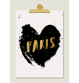 Black Heart Paris Poster vector image vector image