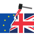 brexit great britain leaving eu vector image vector image