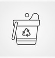 bucket icon sign symbol vector image