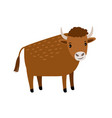bull cartoon icon vector image