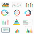 Business data infographic set vector image vector image