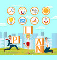 business development strategy vector image vector image