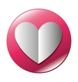 button heart love icon graphic vector image