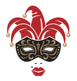 carnival mask image vector image vector image