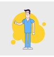 character of happy surgeon in medical vector image vector image