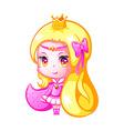 Chibi princess vector image vector image