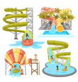 Colorful Aquapark Set vector image vector image