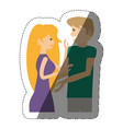 couple relationship romantic shadow vector image vector image