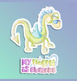 cute cartoon dragons green dragon vector image