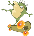 Cute Frog Cartoon Character vector image