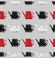 cute watering can seamless pattern vector image