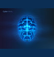 cyber mind or artificial intelligence brain vector image vector image