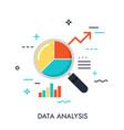 data analysis concept vector image