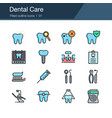 dental care prevention check up and dental vector image vector image