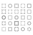 diverse frames and monograms line icons set vector image