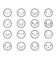 emoticons doodle round 2 vector image
