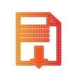 File download sign Orange applique isolated vector image vector image