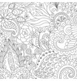 flowers and leaves for background coloring book vector image vector image