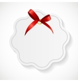 Gift Card with Red Ribbon and Bow vector image vector image