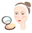 Girl with make up vector image vector image