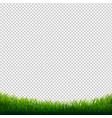 green grass frame transparent background vector image vector image