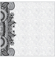 grey vintage floral background for your design vector image