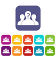 group of people with unknown personality icons set vector image vector image