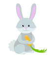 hand drawn rabbit natural colors vector image vector image