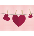 Heart on Rope2 vector image vector image
