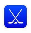 hockey stick icon blue vector image vector image