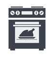 icon kitchen electric oven with grilled vector image