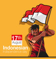 indonesian independence day vector image vector image