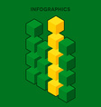 Infographics with cubes vector image