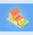 isometric house with garage vector image