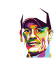 john cena face pop art vector image vector image