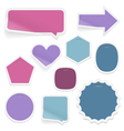 Labels and stickers on white background vector image vector image