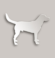 Labrador paper style vector image vector image