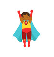 little boy character dressed as a super hero vector image