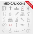Medical icons Art line vector image vector image