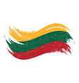 national flag of lithuania designed using brush vector image vector image