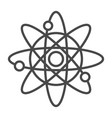 nuclear energy linear icon vector image