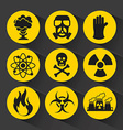 nuclear icons vector image