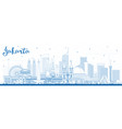 outline jakarta indonesia city skyline with blue vector image vector image