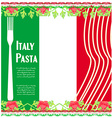 pasta pattern vector image vector image