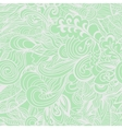 Pastel green floral seamless pattern vector image
